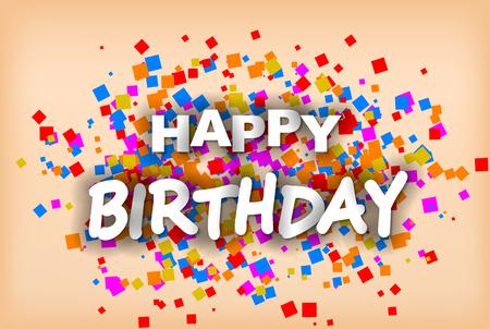 Happy Birthday - greeting card Foto de archivo - 121570035