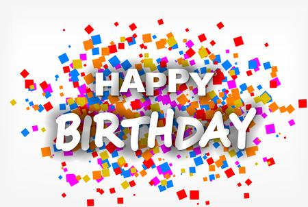 Feliz cumpleaños - tarjeta de felicitación, folleto, invitación - vector