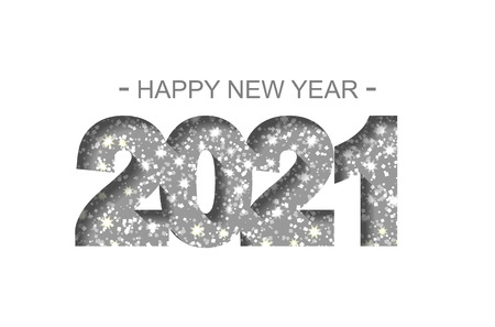 Felice Anno Nuovo 2021 - biglietto di auguri, volantino, invito - illustrazione vettoriale