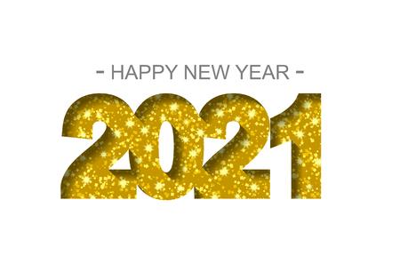 Felice Anno Nuovo 2021 - biglietto di auguri, volantino, invito - illustrazione vettoriale Vettoriali