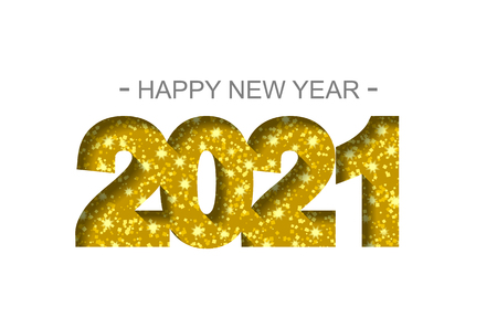 Feliz año nuevo 2021 - tarjeta de felicitación, folleto, invitación - ilustración vectorial Ilustración de vector