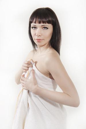 Girl in a towel