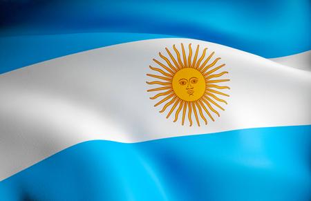 Flag of Argentina 스톡 콘텐츠