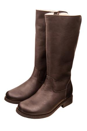 childrens autumn boots Standard-Bild - 109623423