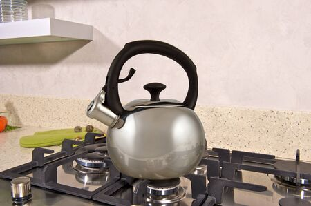 metal Kettle on the stove