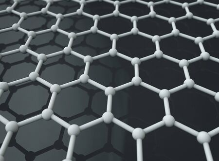 Graphene crystal lattice abstract background Zdjęcie Seryjne