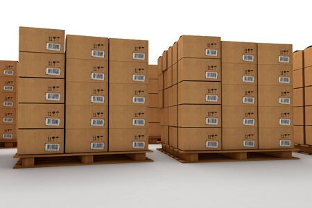 Warehouse Pallets with Drawers