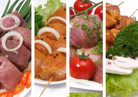 Collage of different meat
