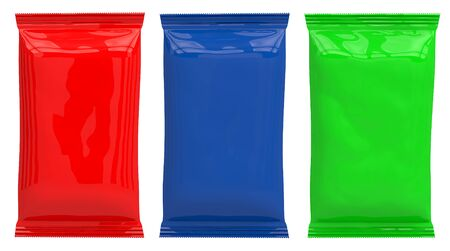 different Multi-colored packaging