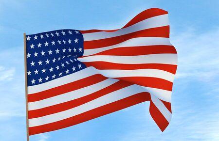 American flag illustration Stock fotó