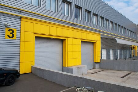 Yellow Gate for loading warehouse