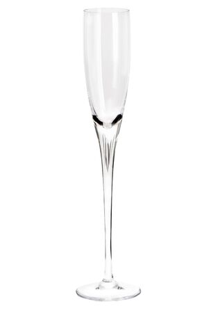 Glass goblet on a white background Standard-Bild
