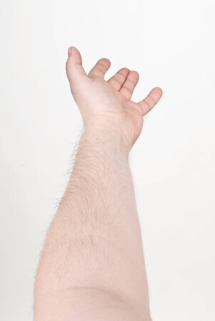 Male hand outstretched for help 版權商用圖片 - 143931624