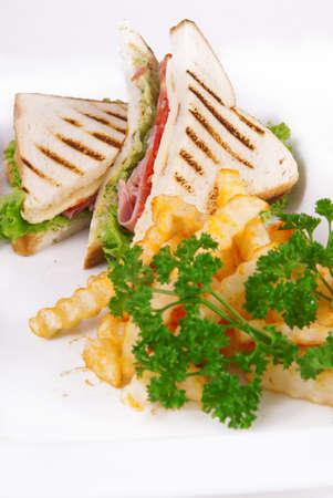 Pressed and toasted stuffed panini