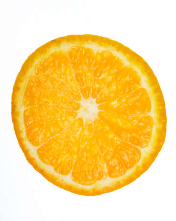 one orange circle isolated on white background Stock fotó