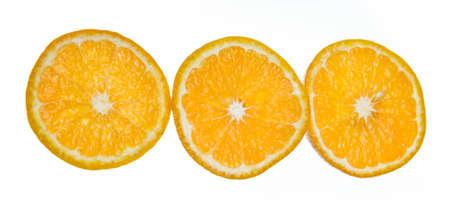 three circle of orange on white background