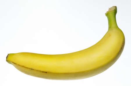 one banana isolated on white background