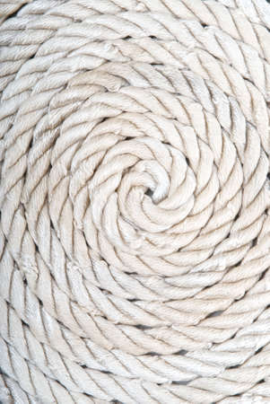 Background of twisted white ropes