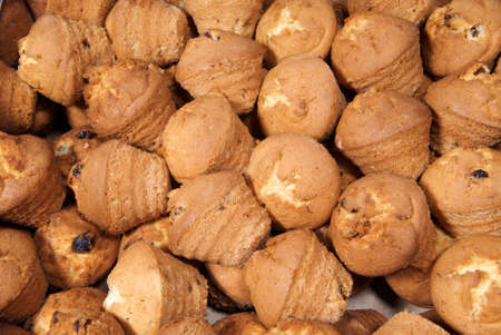 Abstract background with baked sweet muffins. Stock fotó