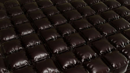 Background leather quilted 3d render