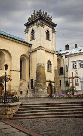 Lviv is a city in Ukraine. Tourist centre Stock fotó