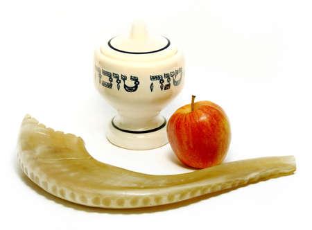 유대인의 새해 상징 스톡 콘텐츠