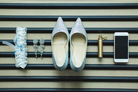 The details of the wedding. Accessories for the bride
