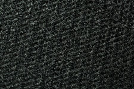 Black knitted wool texture can use as background