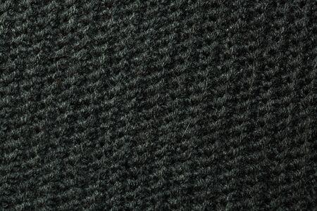La texture de laine tricotée noire peut être utilisée comme arrière-plan