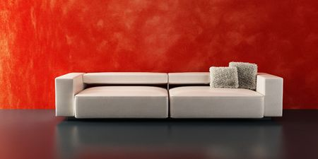 modern sofa 3D computer rendering Stock Photo