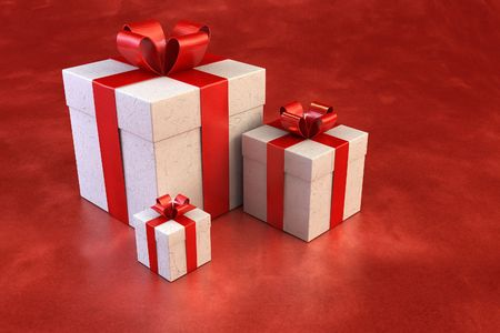 mirth: 3d rendring of the gifts boxes