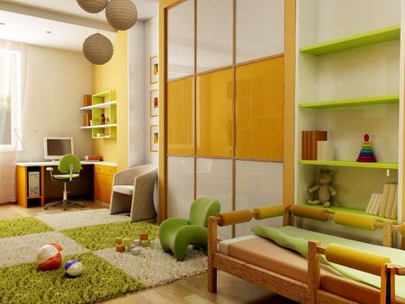 visualisation: 3d interior of the childrens room