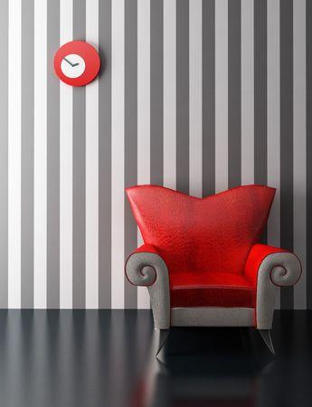 modern armchair 3D computer rendering