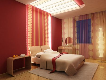 3d rendering of the modern bedroom Stock Photo - 846191