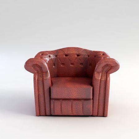 classic armchair 3D computer rendering Stock Photo