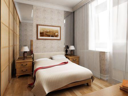 3d rendering of the modern bedroom Stock Photo - 846172