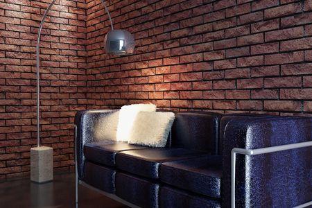 eclecticism: sofa 3D computer rendering Stock Photo