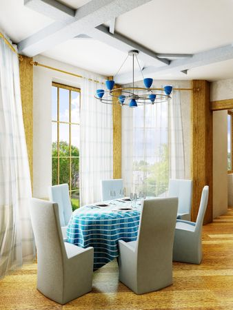 3d rendering of the dining room inter Stock Photo - 846083