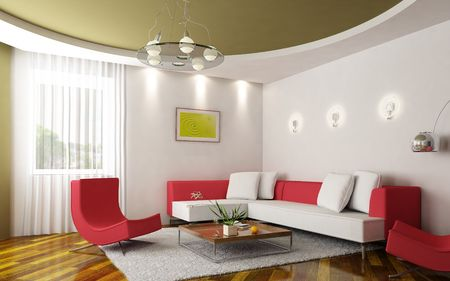 eclecticism: 3d rendering of the modern sitting room