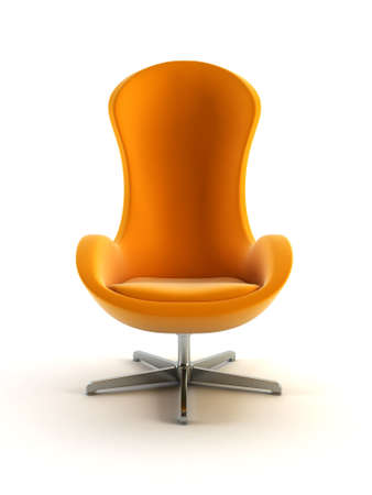 modern armchair 3D computer rendering on white background Stock Photo