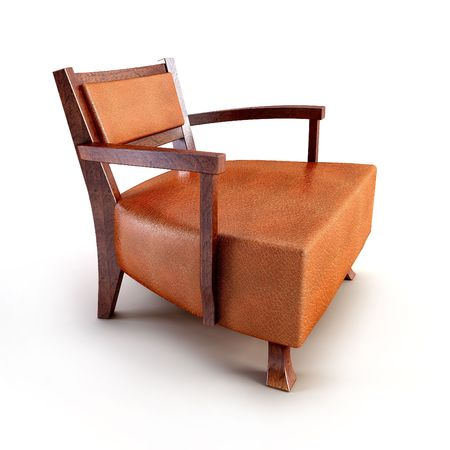 classic asian armchair 3d rendering Stock Photo