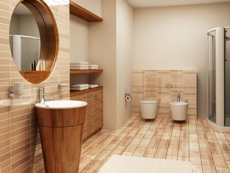 3d rendering of the modern bathroom interior Stock Photo - 921593