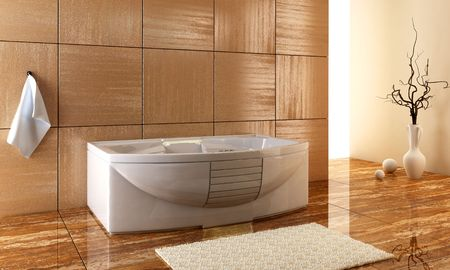 3d rendering of the stylish bathroom inter Stock Photo - 925144