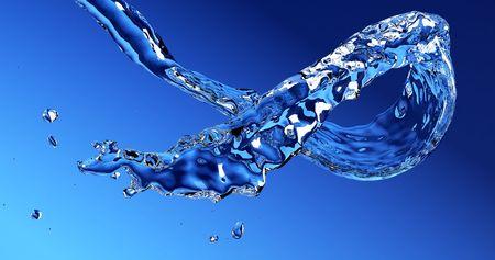 flowing water: flowing water stream 3d rendering Stock Photo