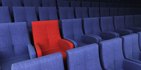 the auditorium with one reserved seat photo