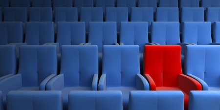 famous industries: the auditorium with one reserved seat
