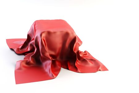 3d rendring of crumpled cloth photo