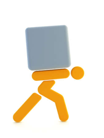 carting: 3d rendering the symbolic man Stock Photo