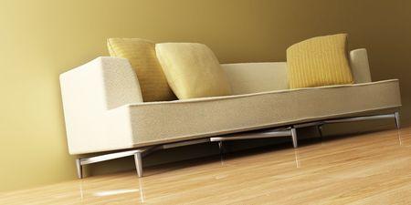 3d inter with modern couch Reklamní fotografie - 1289607