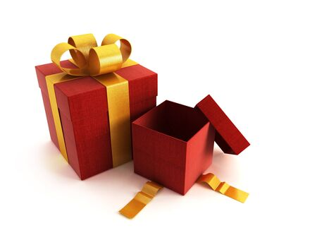 bestowal: 3d rendring of the gifts boxes